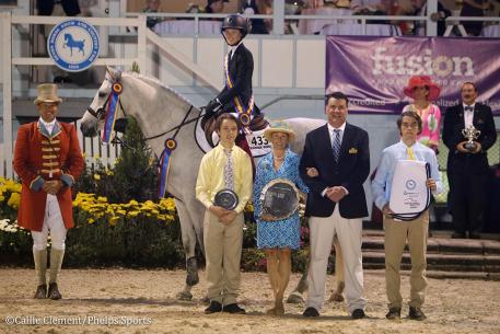 Daisy Farish and Great White (Photo: Callie Clement/Phelps Sports)