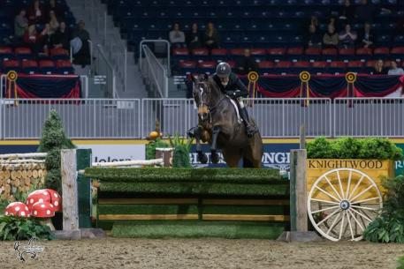 Darcy Hayes of Aurora, ON, finished in second riding Say When, owned by Danielle Trudell-Baran.