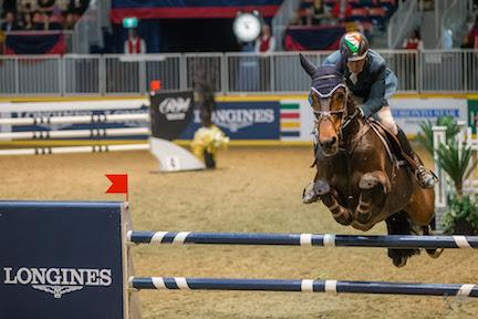 Ireland's Dermott Lennon and Loughview Lou Lou were the only other jump-off contenders, placing second in the 32,000 Longines FEI World Cup™ Jumping Toronto on Wenesday, November 11.