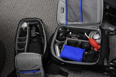 Thinktank Airport Roller Derby bag and Glass Limo backpack