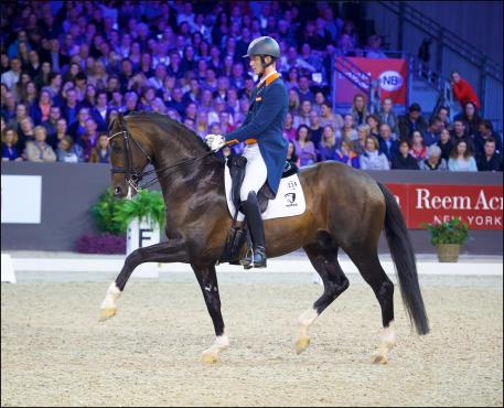 Diederik van Silfhout (NED) and Arlando N.O.P., runners-up at the FEI Reem Acra World Cup Freestyle to Music