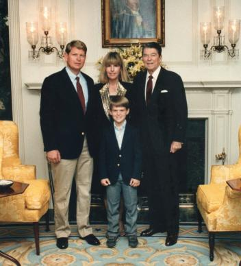 Doug Herthel with wife Sue and son Mark and President Ronald Reagan at the Western White House. Photo courtesy of the Herthel family.