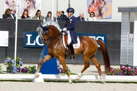 Dr. Cesar Parra and Don Cesar delivered exceptional performances in the FEI World Breeding Dressage Championships