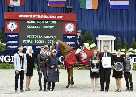 Victoria Colvin in her winning presentation for the 2015 WIHS Equitation Finals, presented by SAP