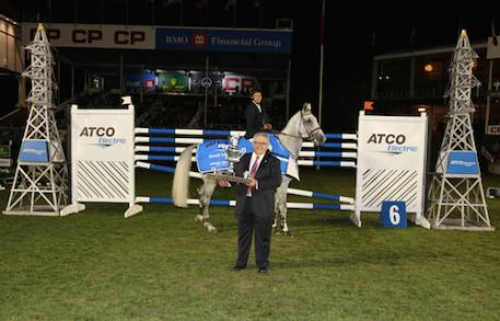Edwin Smits and Rouge Pierreville in their winning presentation with Sett Policicchio, President, ATCO Electric
