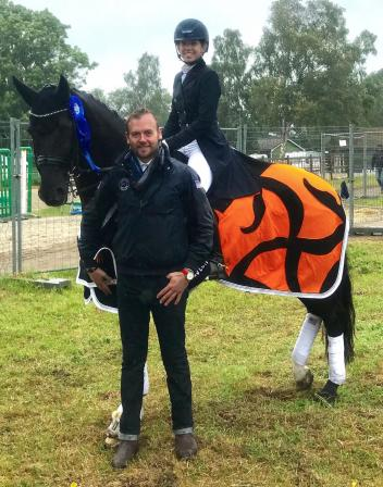 Endel Ots and student Chase Hickok, who was the high scoring American rider on both FEI Nations Cup teams this year at Falsterbo, Sweden and Hickstead, England