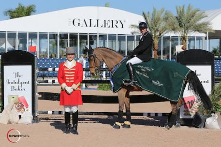 Eric Lamaze and Fine Lady 5 in their winning presentation with ringmaster Christian Craig.