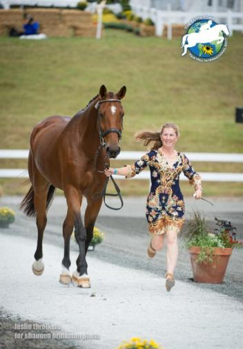 CCI** competitor Erika Nesler and Right Above It