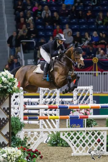 Canada's own Erynn Ballard of Tottenham, ON, placed second in the $35,000 International Jumper Power and Speed riding Thalys Z on Tuesday, November 7, at the CSI4*-W Royal Horse Show in Toronto, ON.