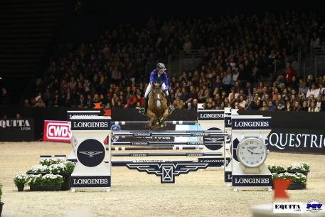 Pénélope Leprévost (FRA) and Flora de Mariposa took first place this afternoon in the Longines FEI World Cup