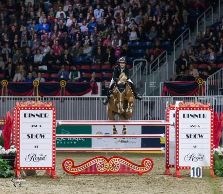 Francoise Lamontagne of St. Eustache, QC, finished second in the 2017 Canadian Show Jumping Championship riding Chanel du Calvaire on Saturday, November 4, at the Royal Horse Show in Toronto, ON.