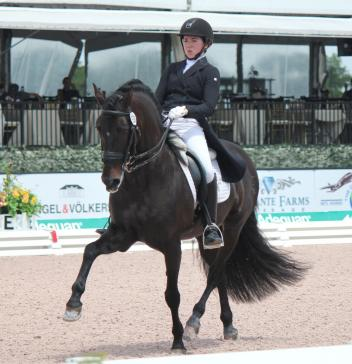 Kerrigan Gluch and HGF Brio, winner of the Omega Alpha Healthy Horse Award, compete at the Adequan Global Dressage Festival