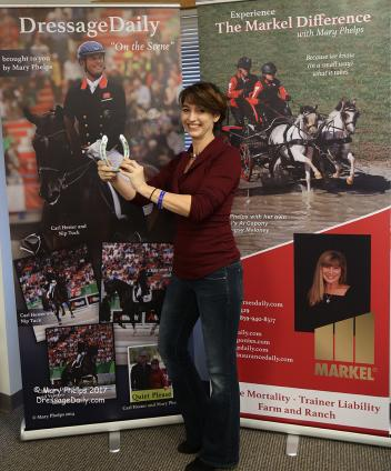 Lisa Marie Bishop poses with Valegro's shoe