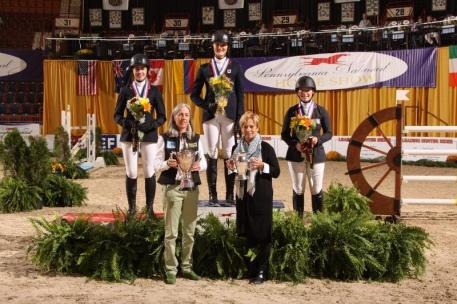 Individual medal winners in the Neue Schule/ USEF Junior Jumper Championship