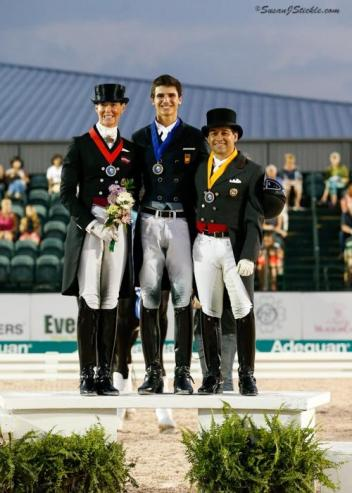Katharina Stumpf (AUT), Juan Matute Jr. (ESP), Raul Corcheulo (COL), Intermediaire I Freestyle, Stillpoint Farm, FEI Nations' Cup CDIO 3*