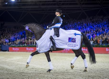 The world no. 1 partnership of Germany's Isabell Werth and the fabulous mare Weihegold secured their third win of the FEI World Cup™ Dressage 2016/2017 Western European League in Amsterdam (NED) today.