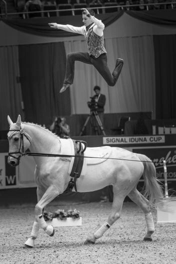 FEI World Cup Vaulting™ final Dortmund male winner Jannis Drewell GER