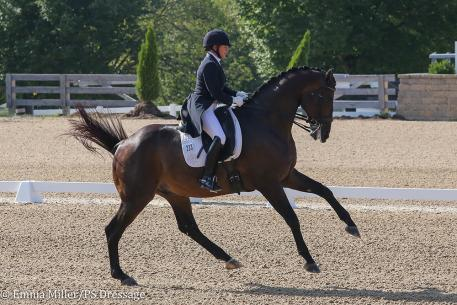 Jennifer Baumert and Handsome (Photo: Emma Miller/PS Dressage)