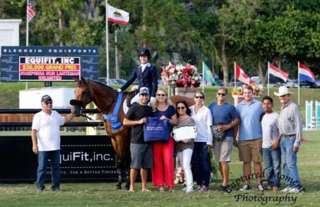 osephina Nor Lantzman and Unlimited celebrate the win with family and friends