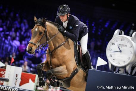 Julien Epaillard (FRA) riding Cristallo A LM during the LONGINES SPEED CHALLENGE, Longines Masters Paris at Paris Nord Villepinte
