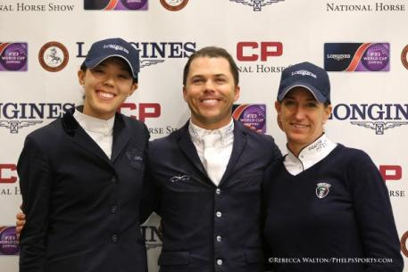Karen Polle, Kent Farrington and Laura Kraut