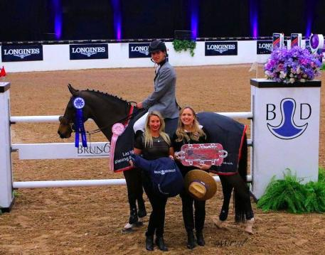 Karl Cook with Kelsey Murray of Bruno Delgrange, and  Blenheim EquiSports VP of Marketing, Melissa Brandes