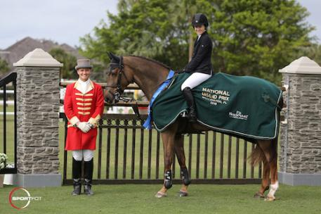 Katie Dinan and Dougie Douglas in their winning presentation with ringmaster Christian Craig