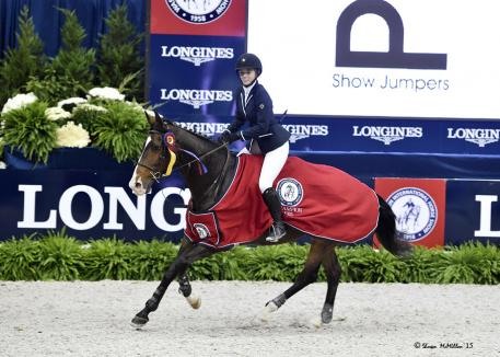 Katy Hamilton and Sacha 12 took the Championship in the WIHS Children's Jumper Finals
