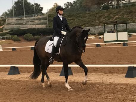 First Level Reserve Champions Kristy Lund and her horse Living Lucky at the USDFRegion Three Championships.