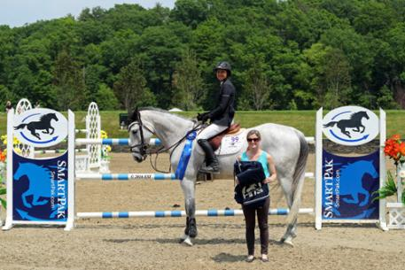 Laura Chapot and Thornhill Kate winning the $25,000 SmartPak Grand Prix