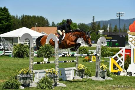 Laura Chapot and Umberto riding to victory  in the ,500 Pepsi Beverage Company  1.35m Jumper Class