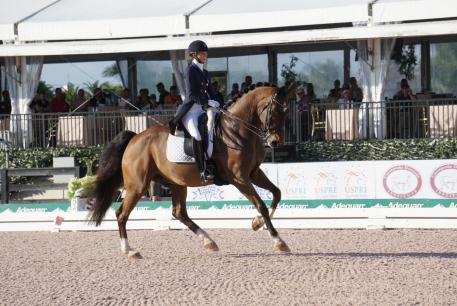 Laura Graves and Verdades climb to the top during the Adequan Global Dressage Festival. (Photo: KPeacock)