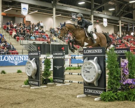 Longines FEI World Cup™ Jumping Calgary Second was Laura Jane TIDBALL riding CONCETTO SON CAN
