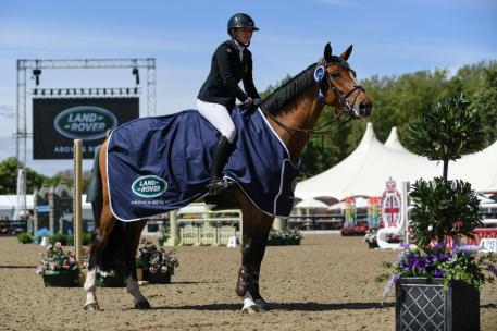 Britain's leading lady, Laura Renwick, got the Show Jumping at Royal Windsor off to a flying start, winning the Equitop Myoplast Foxhunter
