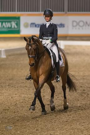 Leah Wilkins impressed in her Royal Horse Show® debut to place second in the $20,000 Royal Invitational Dressage Cup, presented by Butternut Ridge, riding Fabian J.S.
