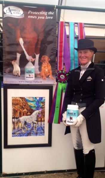 Omega Alpha Ambassador Leslie Reid, three-time Olympic dressage athlete (Photo courtesy of Leslie Reid)
