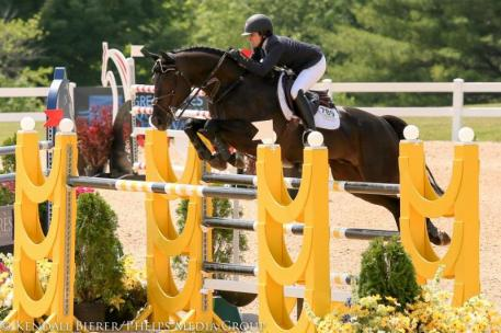 Liz Atkins and Esconial competing at the  Great Lakes Equestrian Festival