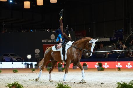 Lukas Heppler (SUI) on Monaco Franze 4, winner of the CVI-W Individual Vaulting Male
