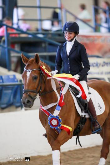 Faith Green, Quarter Horse, Dusters Legacy, 2016 National Dressage Pony Cup