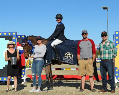 Mandy Porter and Milano winning the $25,000 SmartPak Grand Prix.