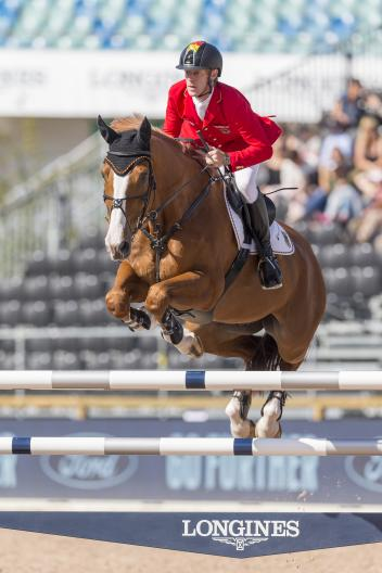 """Marcus EHNING (GER) riding """"Pret A Tout"""""""