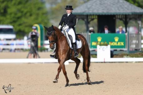 Marilyn Little rode RF Demeter to third place in dressage at the Rolex Kentucky Three-Day Event, presented by Land Rover.