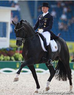 Matthias Rath and Totilas in the Grand Prix at the 2015 European Dressage Championships