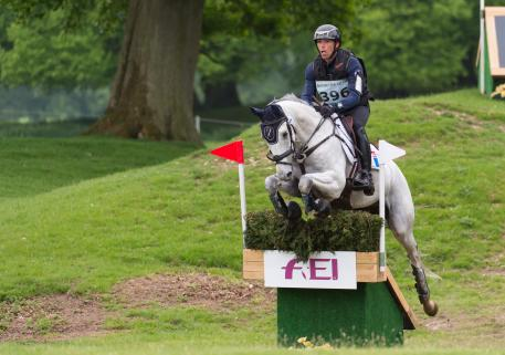 Matthieu Van Landeghem riding Trouble Fete Ene HN taking part in the Cross Country phase of the CICO three star competition at the Houghton International Horse Trials 2016