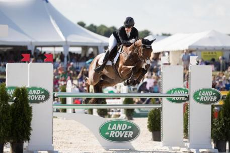 Maya Black and Doesn't Play Fair Jump Clear in Show Jumping Phase