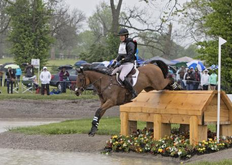Maya Black (USA) rides Doesn't Play Fair during the cross country phase of the 2016 Rolex Kentucky Three Day Event, Presented by Land Rover.