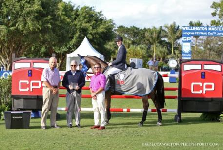 McLain Ward and HH Carlos Z with Jerry Jacobs, Hunter Harrison and Tom Tisbo