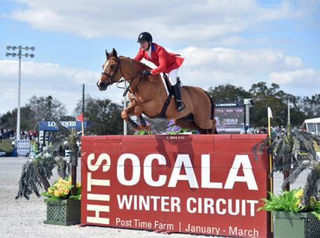 McLain Ward and Rothchild represent the United States in the Furusiyya FEI Nations Cup CSIO4*, presented by Edge Brewing Barcelona at HITS Post Time Farm in Ocala, Florida.