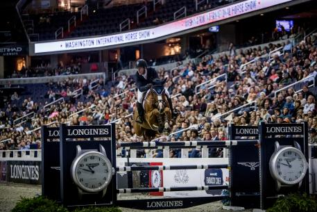 Second Place Finished McLain Ward riding HH Callas In Washington at the Longines FEI World Cupª Jumping qualifier Saturday 28 October 2017