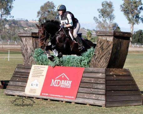 Megan Traynham and Lord Lombardi hold the reins to  lead the CCI1*